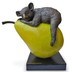 Bronze Sculpture - Art - Limited Edition - Australian Animal - Koala - Pear