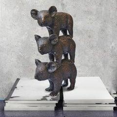 Bronze Sculpture - Art - Limited Edition - Australian Animal - Koala Stack
