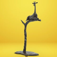 Bronze Sculpture - Gillie and Marc - Limited Edition - Animal - Tree - Giraffe