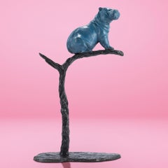 Bronze Sculpture - Gillie and Marc - Limited Edition - Animal - Tree - Hippo