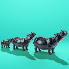 Bronze Sculpture - Gillie and Marc - Limited Edition - Animal - Wildlife - Hippo