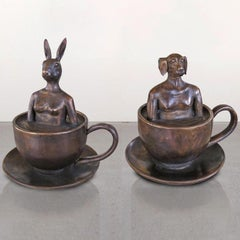 Bronze Sculpture - Gillie and Marc - Limited Edition - Coffee Animal - Art 2019