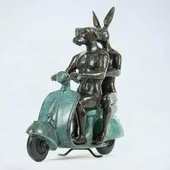 Bronze Sculpture - Green Vespa - Gillie and Marc - Rabbit - Dog - Limited Ed