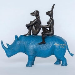 Bronze Sculpture - Limited Edition - Animal Art - Gillie and Marc - Rhino