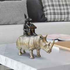 Bronze Sculpture - Limited Edition - Animal - Gillie and Marc - Rhino - Gold