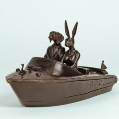 Bronze Sculpture - Limited Edition - Gillie and Marc - Rabbit - Dog - Boat Love