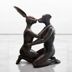Bronze Sculpture - Limited Edition - Kiss - Love - Embrace - Animal - Art