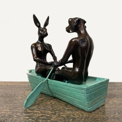Bronze Sculpture - Mini - Limited Edition - Animal Art - Gillie and Marc - Boat