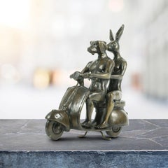 Bronze Sculpture - Mini - Limited Edition - Animal Art - Gillie and Marc - Vespa