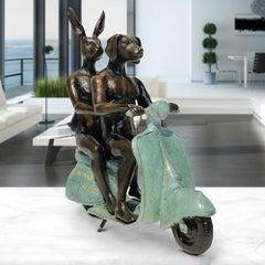 Bronze Sculpture - Mini - Limited Edition - Animal Art - Gillie and Marc - Vespa