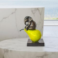 Bronze Sculpture - Mini - Limited Edition - Gillie and Marc - Elephant - Pear