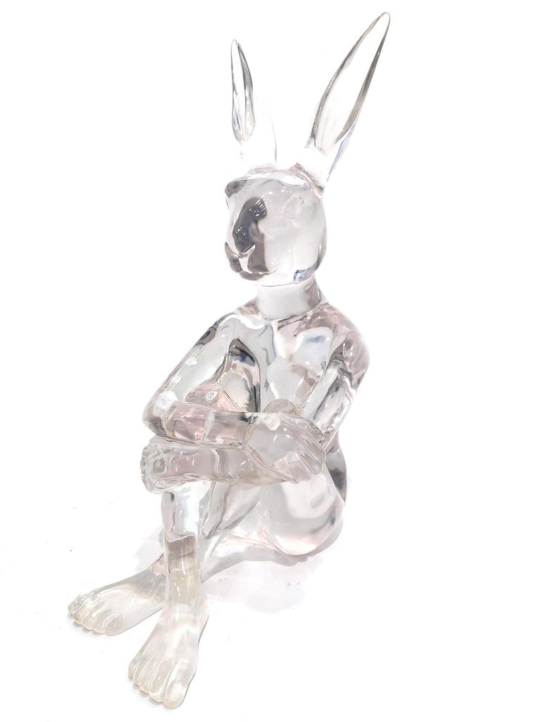 Gillie and Marc Schattner Abstract Sculpture - Lolly Rabbitgirl (Clear)