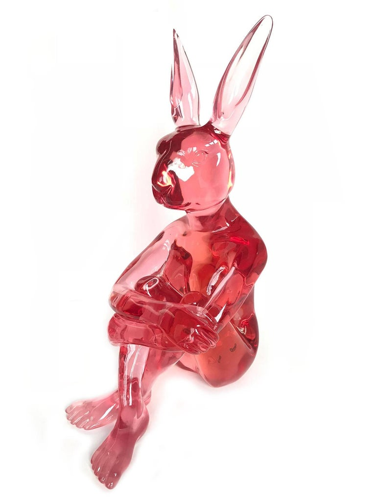 Gillie and Marc Schattner Abstract Sculpture - Lolly Rabbitgirl (Pink)