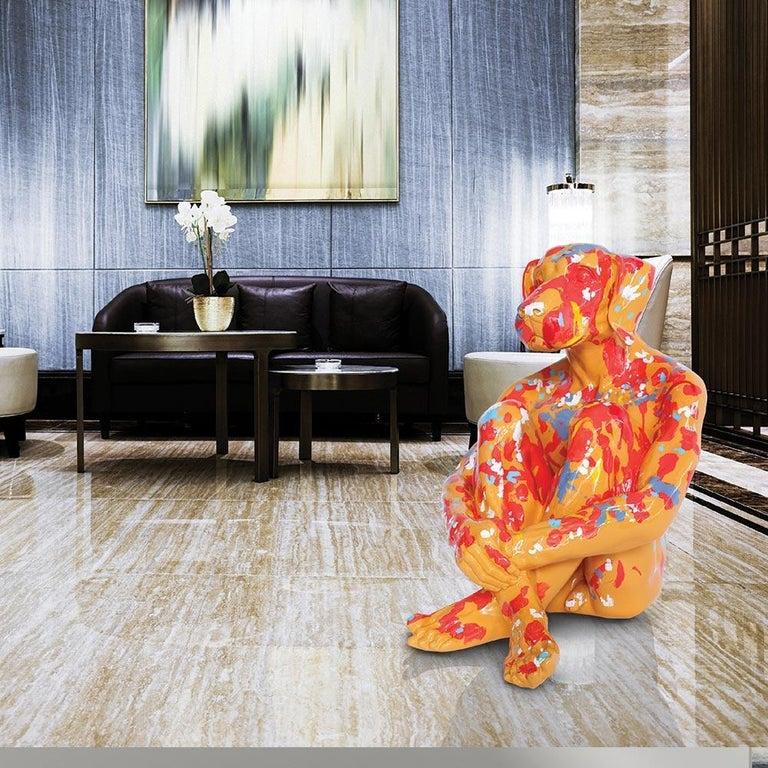 Pop Art - Sculpture - Art - Fibreglass - Gillie and Marc - Dogman - Splash Pop 2