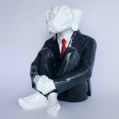 Pop Art - Sculpture - Art - Fibreglass - Gillie and Marc - Dogman - Suit Red Tie