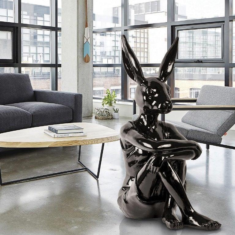 Pop Art - Sculpture Art - Fibreglass - Gillie and Marc - Rabbitwoman Dress Black 2