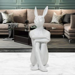 Pop Art - Sculpture - Art - Resin - Gillie and Marc - Cool - City - Bunny -White