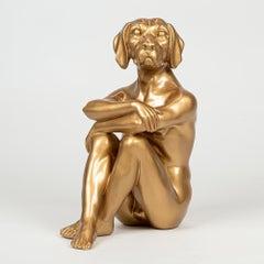 Pop Art - Sculpture - Art - Resin - Gillie and Marc - Cool - City - Pup - Gold