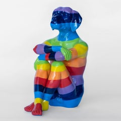 Pop Art - Sculpture - Art - Resin - Gillie and Marc - Dog - Pup - Rainbow