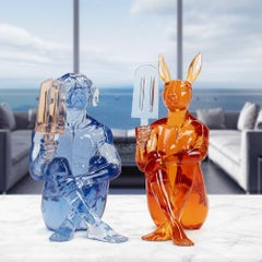 Pop Art - Sculpture - Art - Resin - Gillie and Marc - Dog - Rabbit - Ice Cream