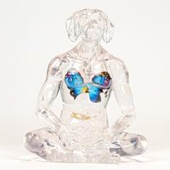 Pop Art - Sculpture - Art - Resin - Gillie and Marc - Dogman - Butterfly Heart
