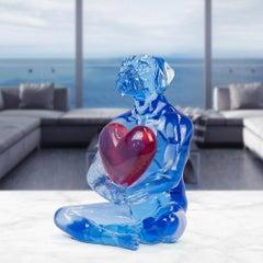 Pop Art - Sculpture - Art - Resin - Gillie and Marc - Dogman - Heart - Love Kiss