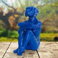 Pop Art - Sculpture - Art - Resin - Gillie and Marc - Dogman - Pup - Nude - Blue