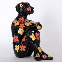 Pop Art - Sculpture - Art - Resin - Gillie and Marc - Flowers - Black Pup