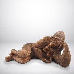 Pop Art - Sculpture - Art - Resin - Gillie and Marc - Gorilla - Gold Finish