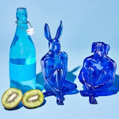 Pop Art - Sculpture - Art - Resin - Gillie and Marc - Love - Rabbit - Dog - Blue