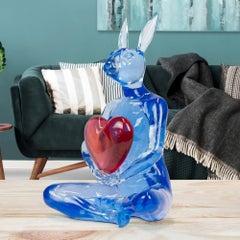 Pop Art - Sculpture - Art - Resin - Gillie and Marc - Rabbitwoman - Heart Love