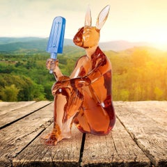 Pop Art - Sculpture - Art - Resin - Gillie and Marc - Rabbitwoman - Ice Cream