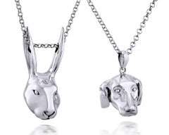 Pop Art - Sculpture - Jewellery - Gillie and Marc - Rabbit - Dog - Silver Set