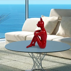 Pop Art - Sculpture - Resin - Gillie and Marc - Red - Catwoman - Kitten - City