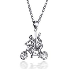 Pop Art - Sculpture - Silver Jewellery - Gillie and Marc - Animal Bicycle Ride