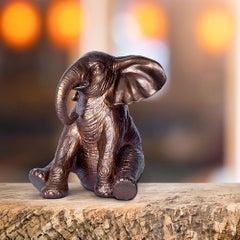 Resin Sculpture - Pop Art - Gillie and Marc - Elephant - Bronze Metallic