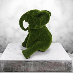Resin Sculpture - Pop Art - Gillie and Marc - Elephant Calf - Green Grass