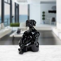 Resin Sculpture - Pop Art - Gillie and Marc - Ltd Edition - Mini - Dog - Black