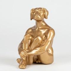 Resin Sculpture - Pop Art - Gillie and Marc - Ltd Edition - Mini - Dog - Gold
