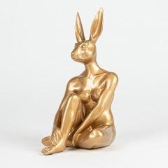 Resin Sculpture - Pop Art - Gillie and Marc - Ltd Edition - Mini - Rabbit - Gold