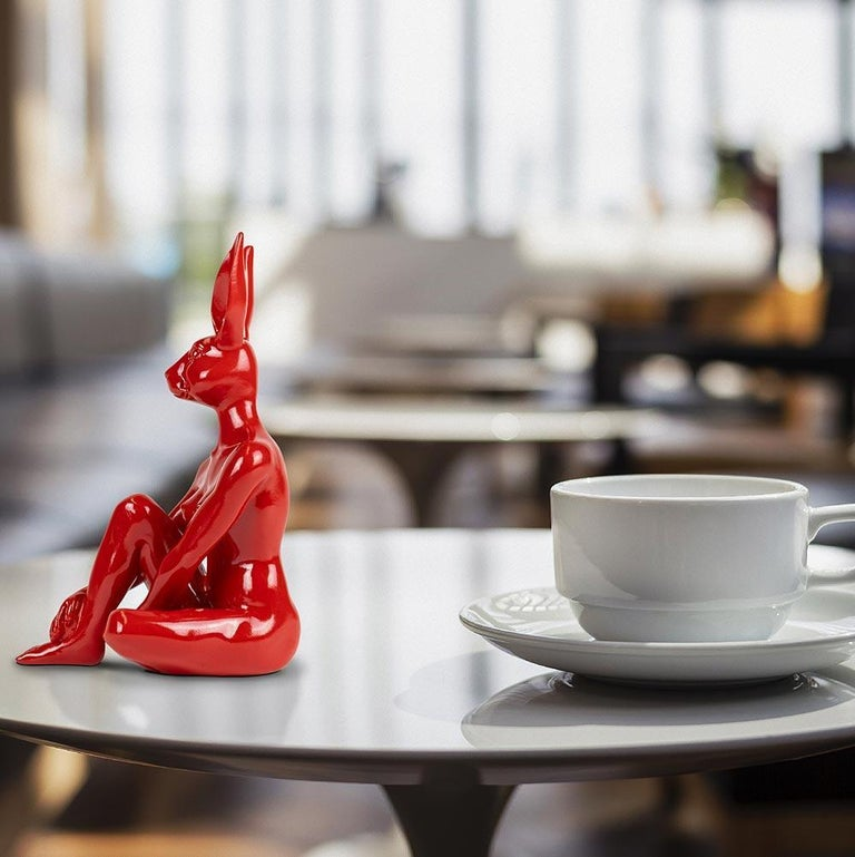 Title: Cool Mini Rabbitwoman Authentic resin sculpture Limited Edition /100  World Famous Contemporary Artists: Husband and wife team, Gillie and Marc, are New York and Sydney-based contemporary artists who collaborate to create artworks as one.