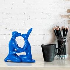 Resin Sculpture - Pop Art - Gillie and Marc - Mini - Kiss - Embrace - Blue