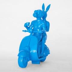 Resin Sculpture - Pop Art - Gillie and Marc - Travel - Vespa - Light Blue
