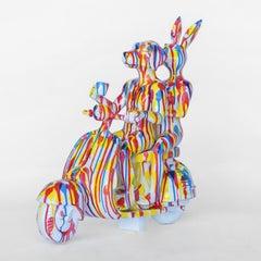 Resin Sculpture - Pop Art - Gillie and Marc - Travel - Vespa - Splash Pop Paint