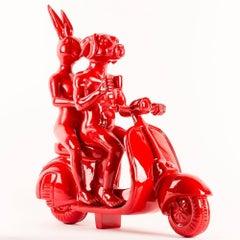 Resin Sculpture - Pop Art - Gillie and Marc - Travel - Vespa - Vibrant Red