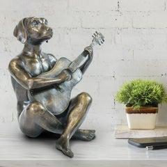 Sculpture - Art - Bronze - Gillie and Marc - Animal - Dogman - Nude - Guitar