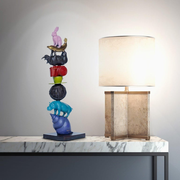 Sculpture Art - Bronze - Gillie and Marc - Colorful - Wildlife - Object - Tower For Sale 3