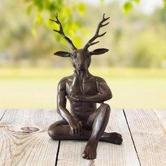 Sculpture - Art - Bronze - Gillie and Marc - Deer- Pear - Pocket - Love - Kiss
