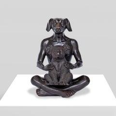 Sculpture - Art - Bronze - Gillie and Marc - Dog - Man - Nude - Koala - Love