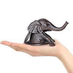 Sculpture - Art - Bronze - Gillie and Marc - Elephant - Manhole - Come out